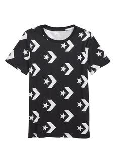 Converse Star Chevron Print T-Shirt (Big Boys)