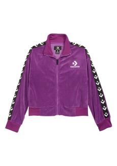 Converse Star Chevron Velour Track Jacket (Big Girls)