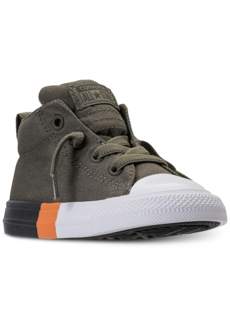427e086d77e7 Converse Toddler Boys' Chuck Taylor All Star Street Mid Color Block Casual  Sneakers from Finish