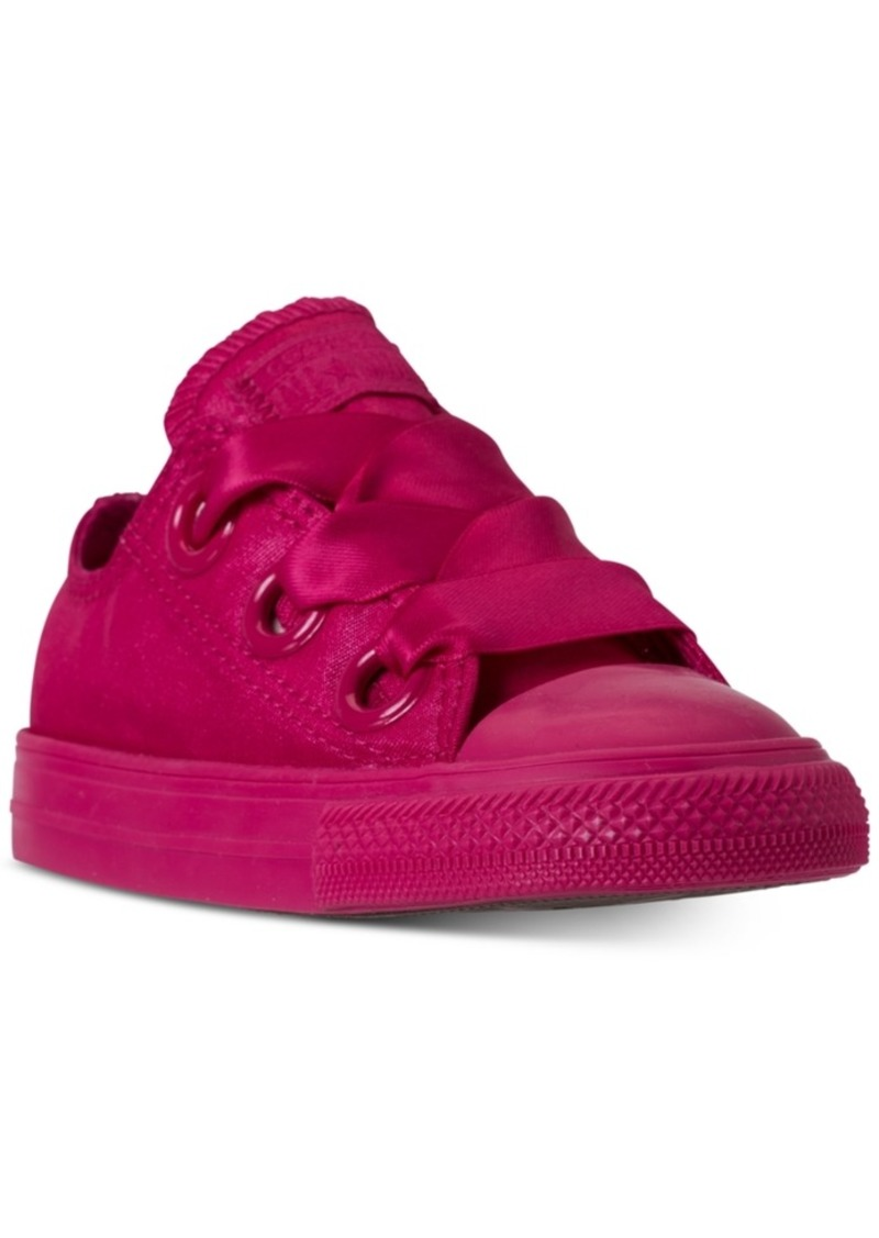 2fa265aac76d Converse Toddler Girls  Chuck Taylor All Star Big Eyelets Satin Ox Casual  Sneakers from Finish