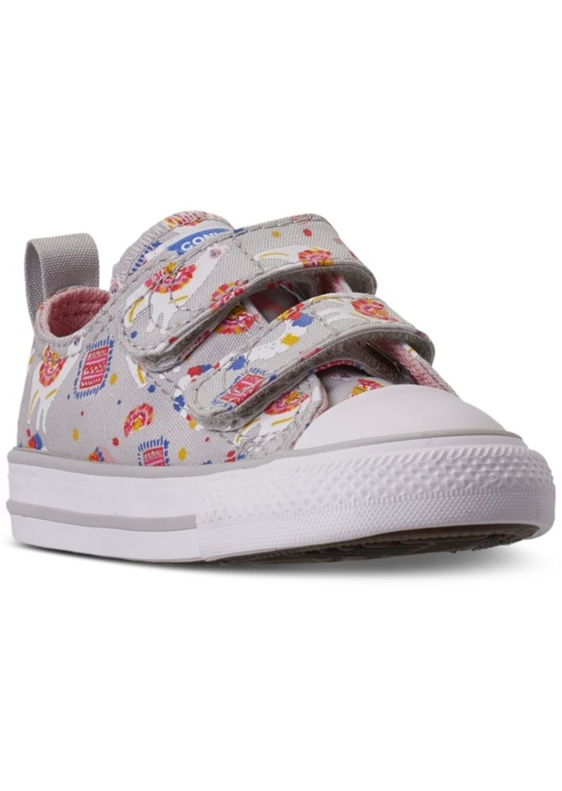 Converse Toddler Girls Chuck Taylor All Star Llama 2V Stay-Put Closure Casual Sneakers from Finish Line
