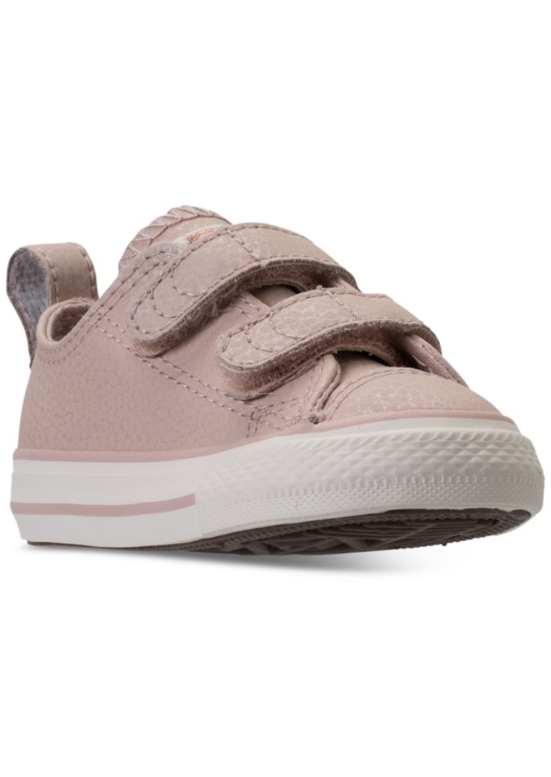 1f0c9a6360a0dc Converse Toddler Girls  Chuck Taylor All Star Ox Leather Casual Sneakers  from Finish Line