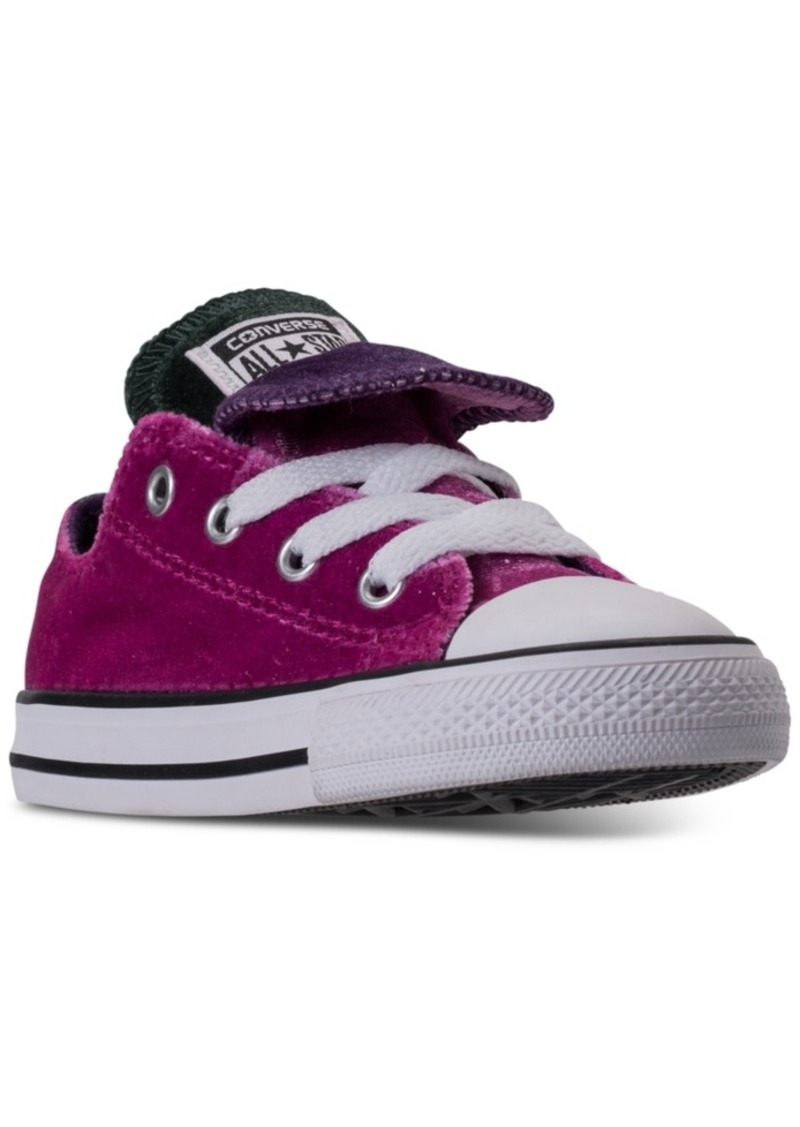 30531f14f646 Converse Toddler Girls  Chuck Taylor All Star Velvet Double Tongue Casual  Sneakers from Finish Line