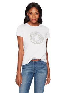 Converse Women's Chuck Patch Camo Fill Short Sleeve Crew T-Shirt  L