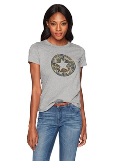 Converse Women's Chuck Patch Camo Fill Short Sleeve Crew T-Shirt  S