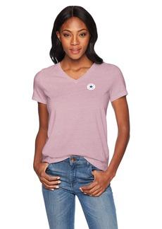 Converse Women's Chuck Patch Short Sleeve V Neck T-Shirt  XL