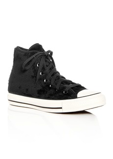 Converse Women's Chuck Taylor All Star Faux-Fur High Top Sneakers