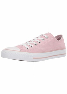 Converse Women's Chuck Taylor All Star Frayed Low Top Sneaker Plum Chalk White  M US
