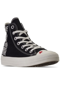Converse Women's Chuck Taylor All Star High Top Love Fearlessly Casual Sneakers from Finish Line