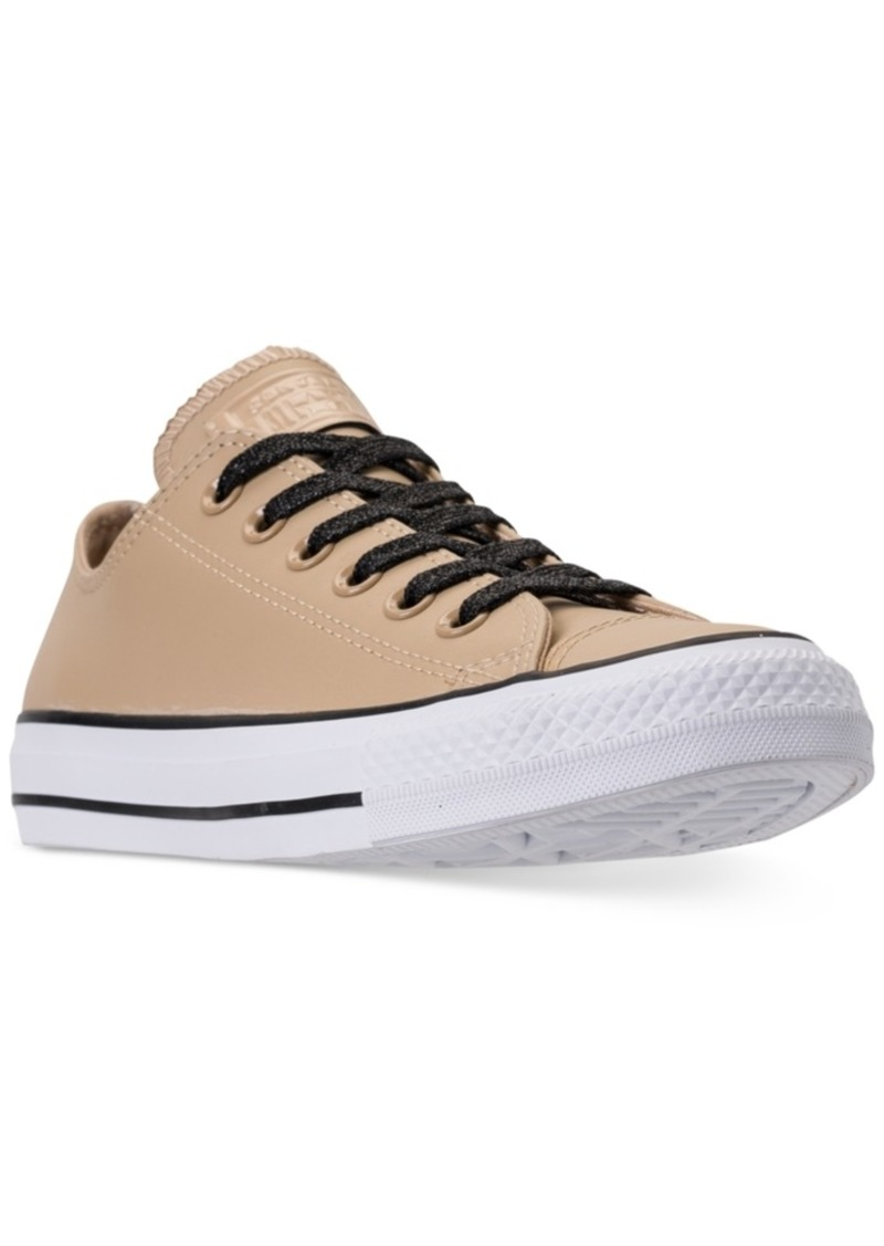 59c3bf7ed1a13e Converse Women s Chuck Taylor All Star Leather Ox Casual Sneakers from  Finish Line