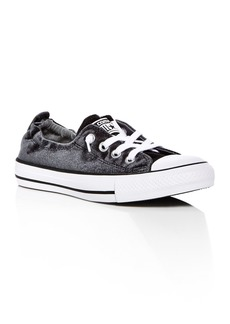 Converse Women's Chuck Taylor All Star Shoreline Velvet Slip-On Sneakers