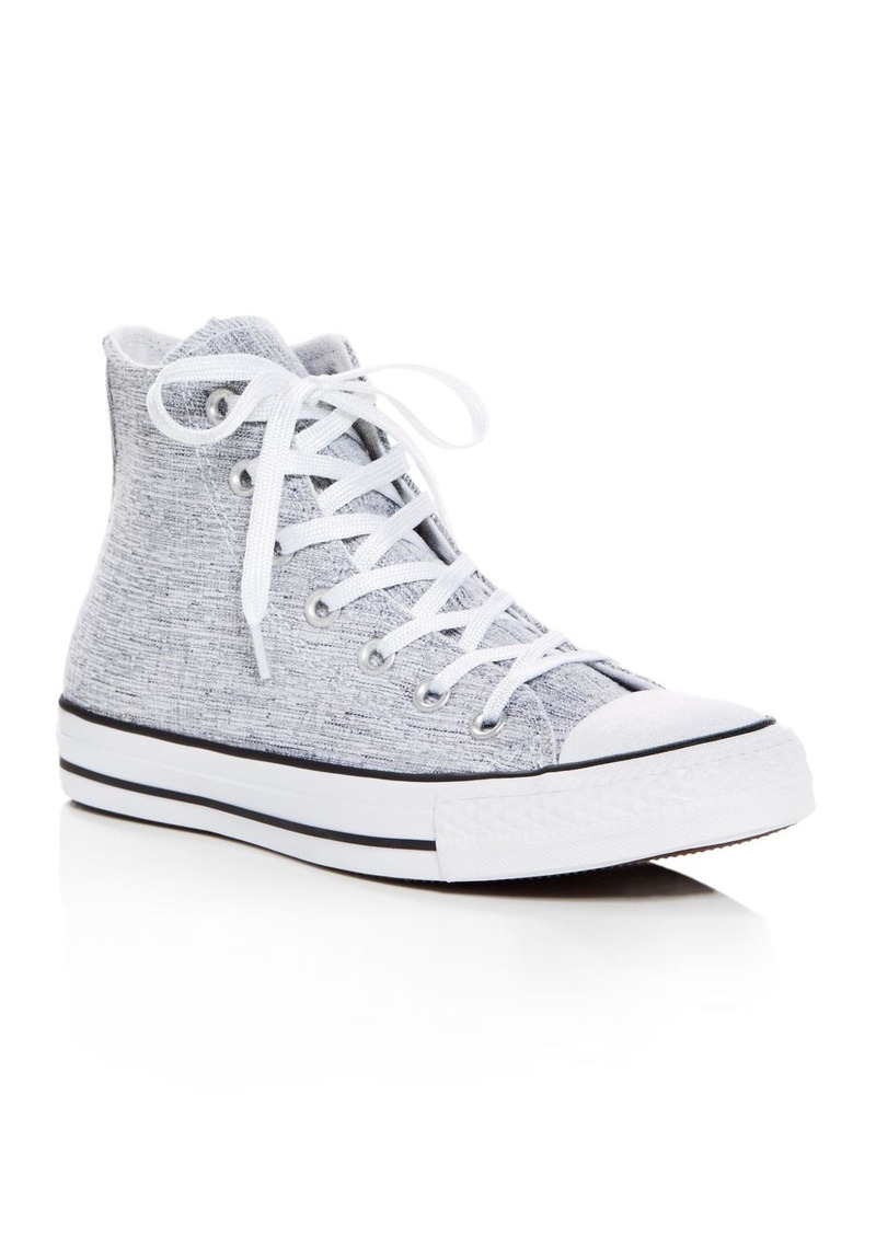 1cb8dfef2cb0 Converse Women's Chuck Taylor All Star Sparkle Knit High Top Sneakers