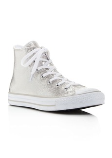 Converse Women's Chuck Taylor All Star Stingray Embossed Metallic High Top Sneakers