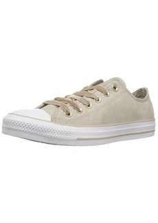 Converse Women's Chuck Taylor All Star Velvet Low TOP Sneaker Papyrus/White