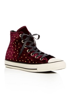 Converse Women's Chuck Taylor Embellished Velvet High Top Sneakers