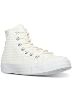 Converse Women's Chuck Taylor Hi Craft Leather Casual Sneakers from Finish Line