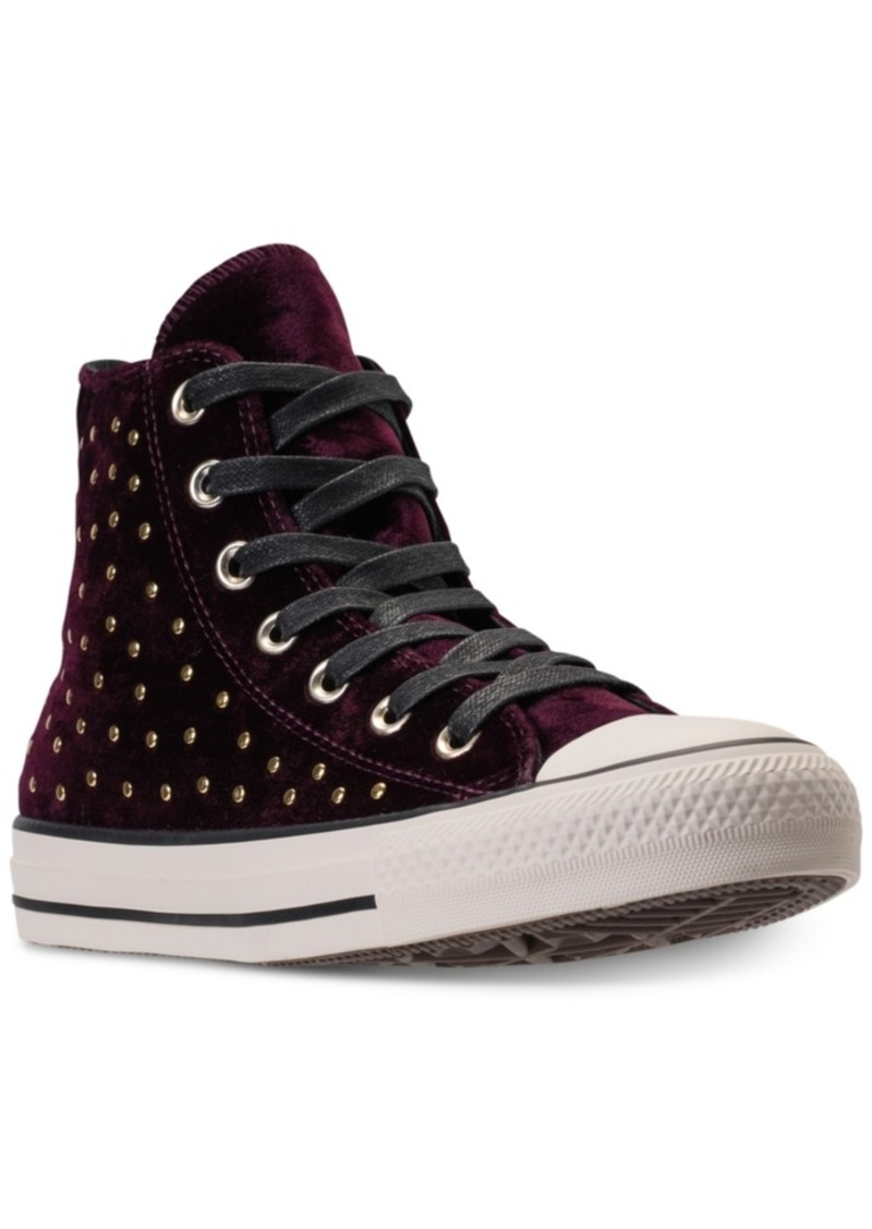 41f85dd345fa Converse Women s Chuck Taylor Hi Velvet Stud Casual Sneakers from Finish  Line