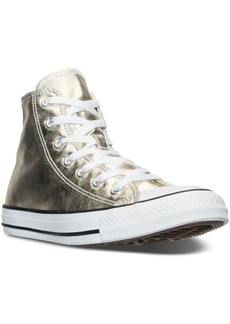 Converse Women's Chuck Taylor High-Top Metallic Leather Casual Sneakers from Finish Line