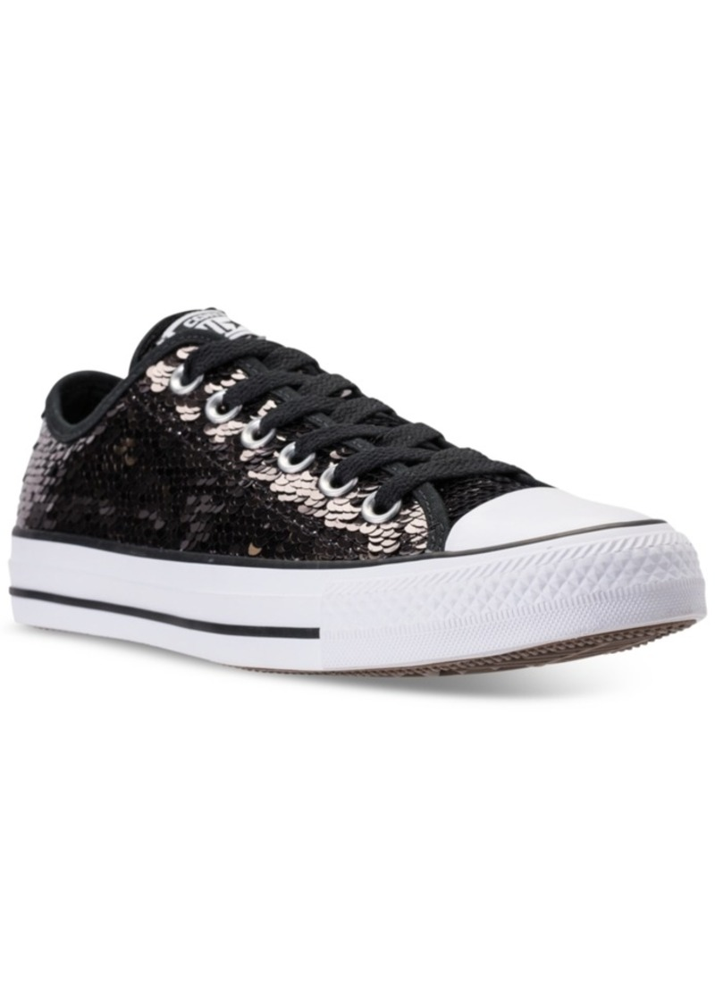 Converse Women s Chuck Taylor Ox Sequin Casual Sneakers from Finish Line 153c32260