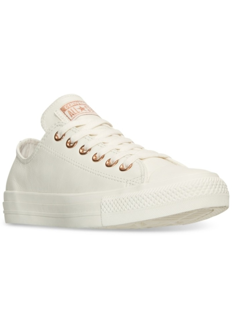 cd78f7d2aa77 Converse Women s Chuck Taylor Pastel Leather Ox Casual Sneakers from Finish  Line