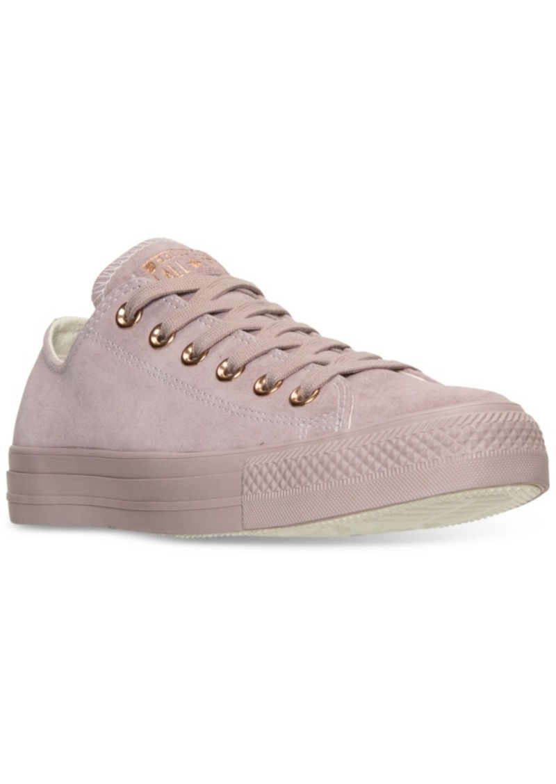 f960060f4848 Converse Women s Chuck Taylor Pastel Leather Ox Casual Sneakers from Finish  Line
