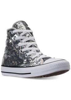 Converse Women's Chuck Taylor Sequin High-Top Casual Sneakers from Finish Line
