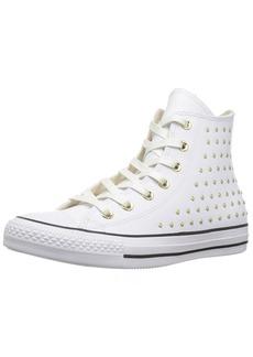 Converse Women's CTAS HI White/Gold Sneaker Optical