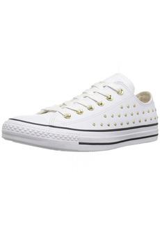 Converse Women's CTAS OX White/Gold Sneaker Optical  M US