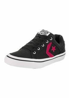 Converse Women's EL Distrito Canvas Low TOP Sneaker Black/Pink pop/White  M US