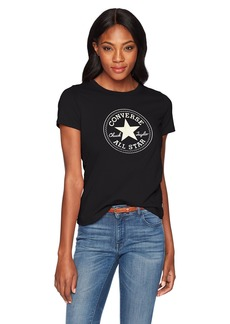 Converse Women's Foil Chuck Patch Short Sleeve Crew T-Shirt  S