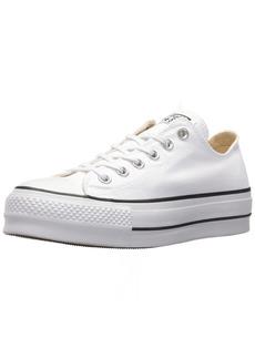 Converse Women's Lift Canvas Low Top Sneaker Black/White 8.5 M US