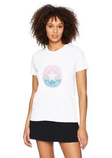 Converse Women's Ombre Chuck Patch Short Sleeve Crew T-Shirt  S