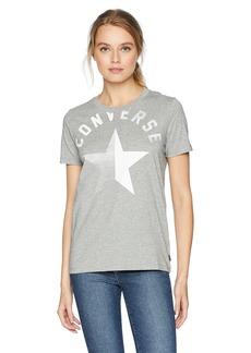 Converse Women's Split Star Short Sleeve Crew T-Shirt  L