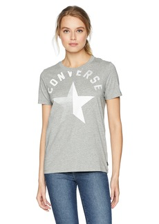 Converse Women's Split Star Short Sleeve Crew T-Shirt  XL