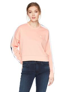 Converse Women's Star Chevron Cropped Track Crew Sweatshirt  XL