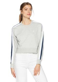 Converse Women's Star Chevron Cropped Track Crew Sweatshirt  XS