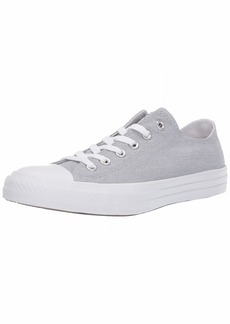 Converse Women's Unisex Chuck Taylor All Star Washed Low Top Sneaker Wolf Grey White  M US