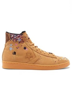 Converse x Bandulu Pro Leather high-top paint-drip trainers