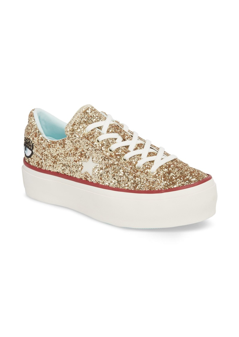 b9e53d0d414b Converse x Chiara Ferragni One Star Glitter Platform Sneaker (Women)