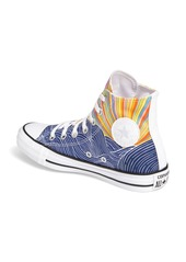 CONVERSE All Star flower-embroidered canvas trainers