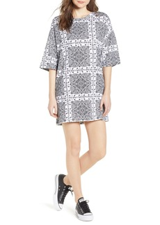 Converse x Miley Cyrus Bandana Print T-Shirt Dress