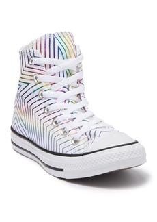 Converse CTAS Rainbow Metallic High Top Sneaker