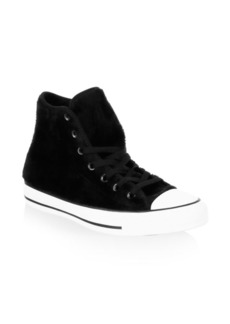 Converse Faux Fur Canvas Sneakers