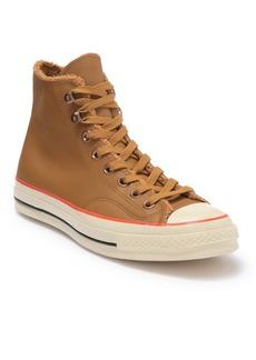 Converse Faux Fur Leather High-Top Sneaker (Unisex)