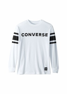 Converse Football Jersey Long Sleeve Knit Top (Big Kids)