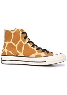 Converse giraffe print hi-tops