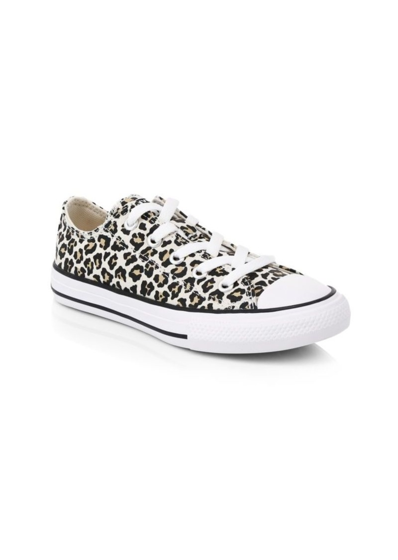 Converse Girl's Chuck Taylor All Star Ox Leopard Print Sneakers