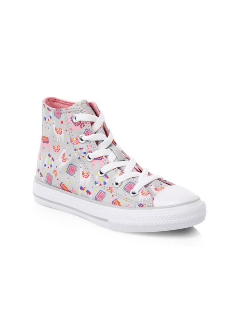 Converse Girl's Chuck Taylor All Stars Llama Print High-Top Sneakers