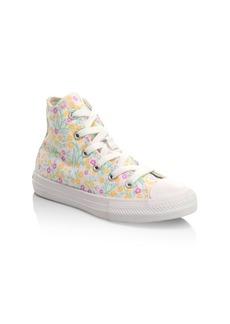 Converse Girl's Chuck Taylor Hi-Top Floral Sneakers