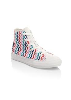 Converse Girl's Multicolor Striped Hi-Top Sneakers